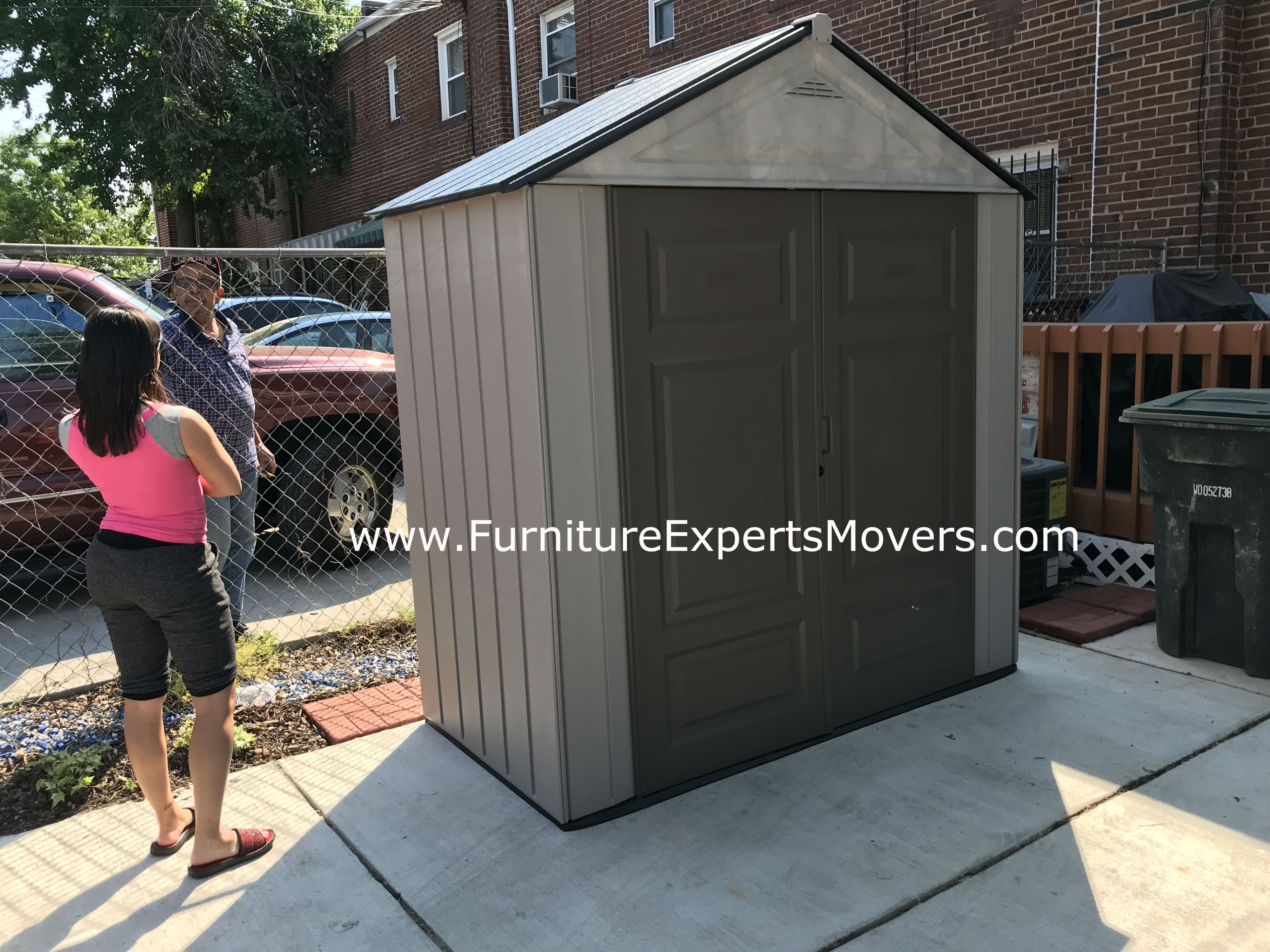 Home depot storage shed Moving and installation