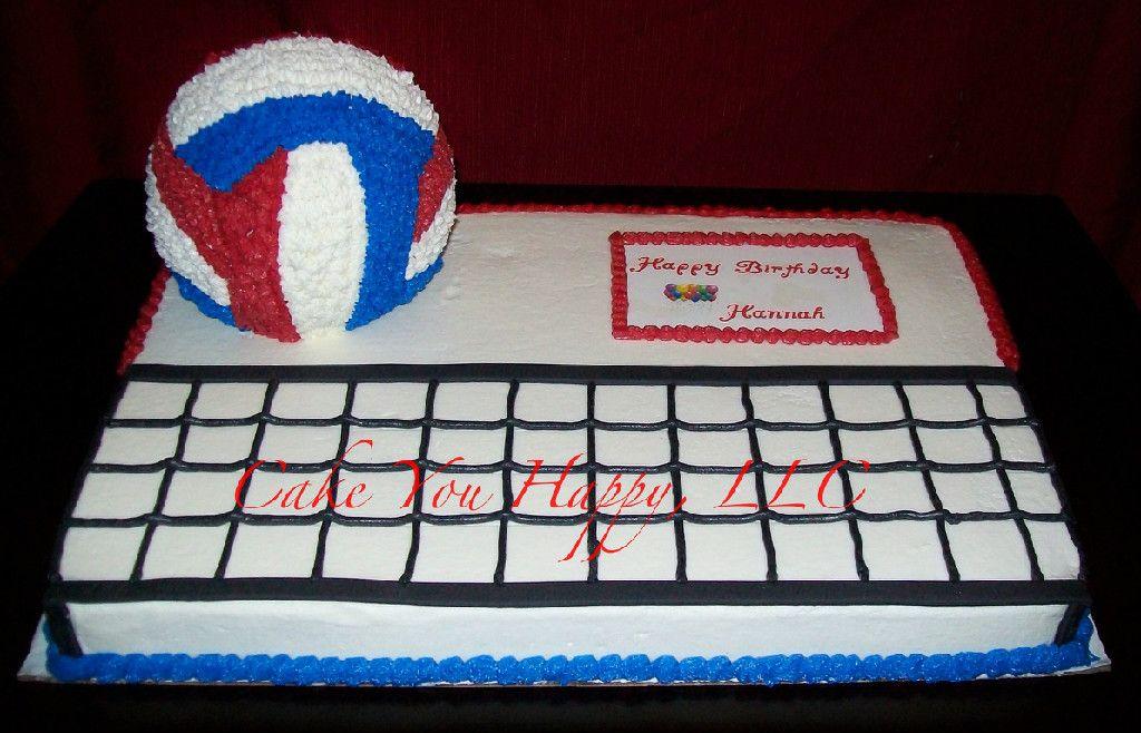 Awe Inspiring Volleyball Birthday Cake Cool Cake Designs Volleyball Cakes Personalised Birthday Cards Arneslily Jamesorg