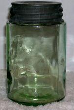 RARE! BALL THE MASON APPLE or OLIVE GREEN PINT SHOULDER SEAL MASON JAR RB #266