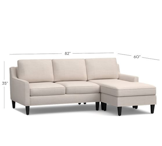 Beverly Upholstered Sofa With Reversible Chaise Sectional Pottery Barn
