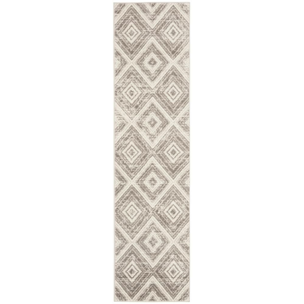 Safavieh Skyler Gray Ivory 2 Ft X 12 Ft Runner Rug Sky120k 212 The Home Depot In 2020 Modern Runner Area Rugs Rug Runner