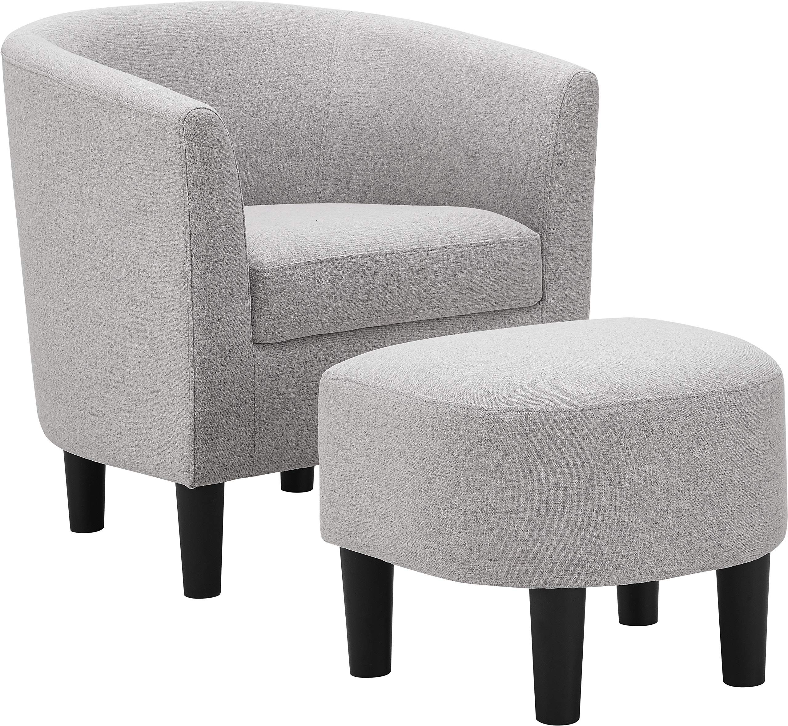 Dazone Modern Accent Chair Upholstered Comfy Arm Chair Linen