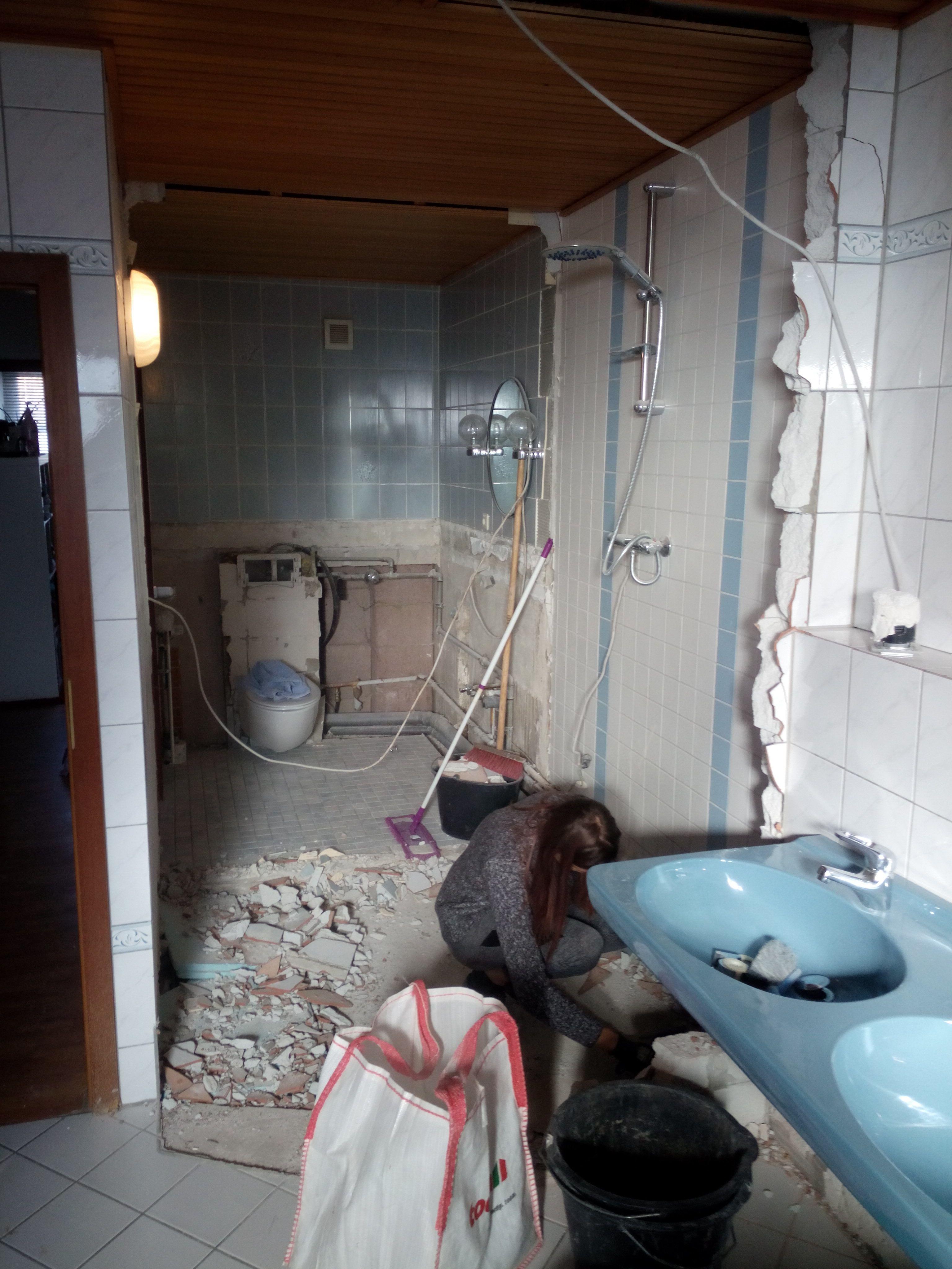 Entkernen Des Alten Traumbad Toilette Traumbad Bad