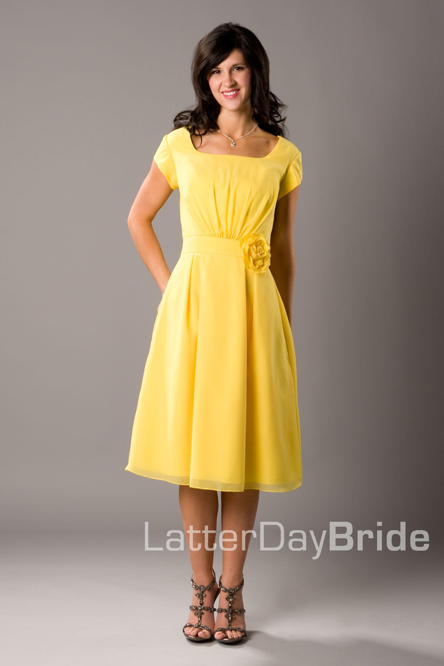 Black dress yellow sash - Yellow Bridesmaid Dress Latter Day Bride