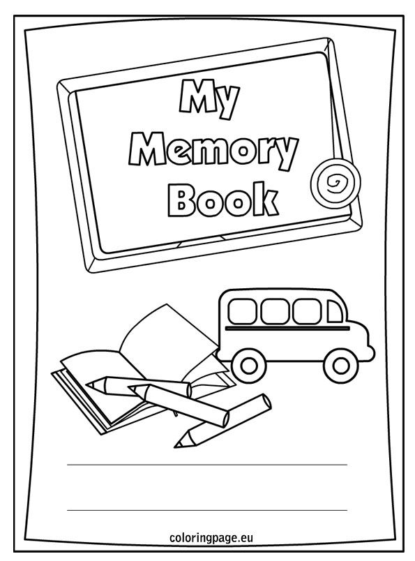 Vibrant image throughout free printable memory book pages