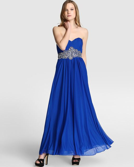 Vestido azul largo formula joven