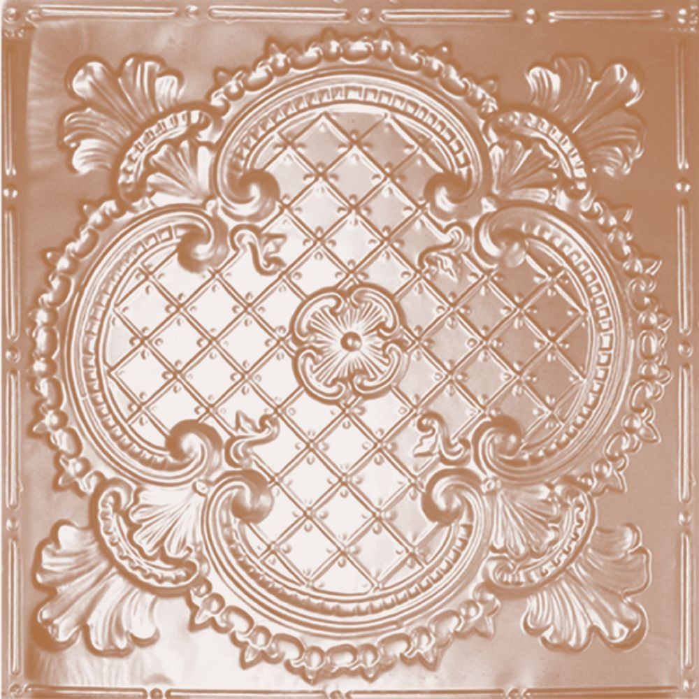 2 Feet X 4 Feet Copper Plated Steel Nail Up Ceiling Tile Design Repeat Every 24 Inches Tin Ceiling Ceiling Tiles