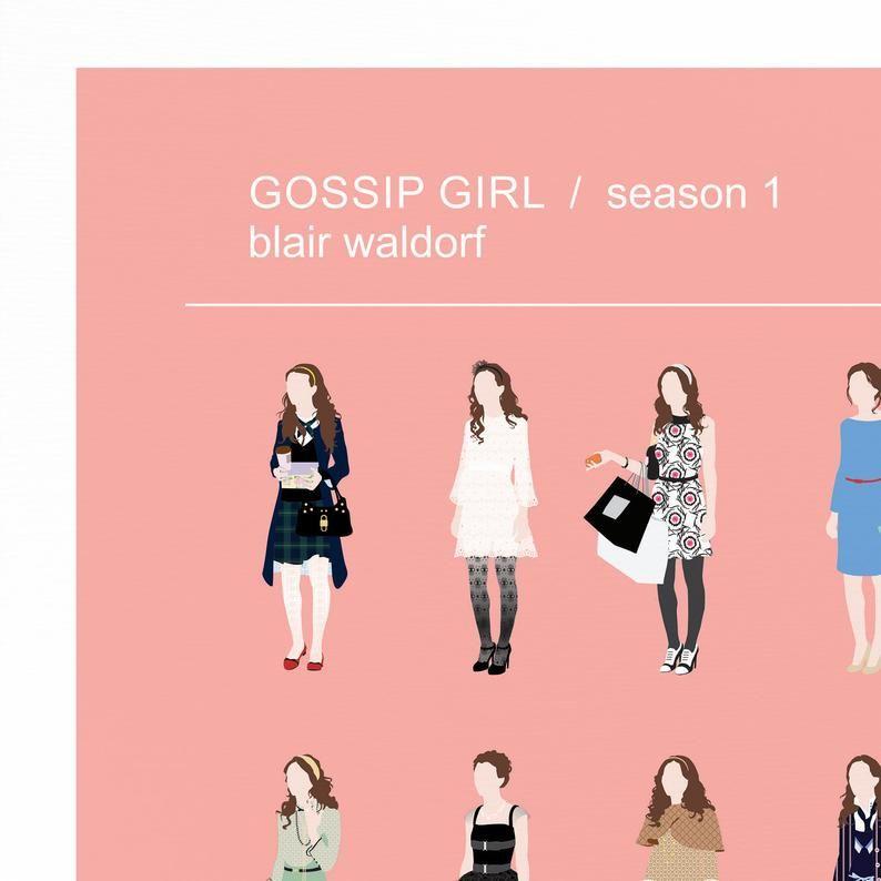Gossip Girl Fashion Poster Blair Waldorf Fashion