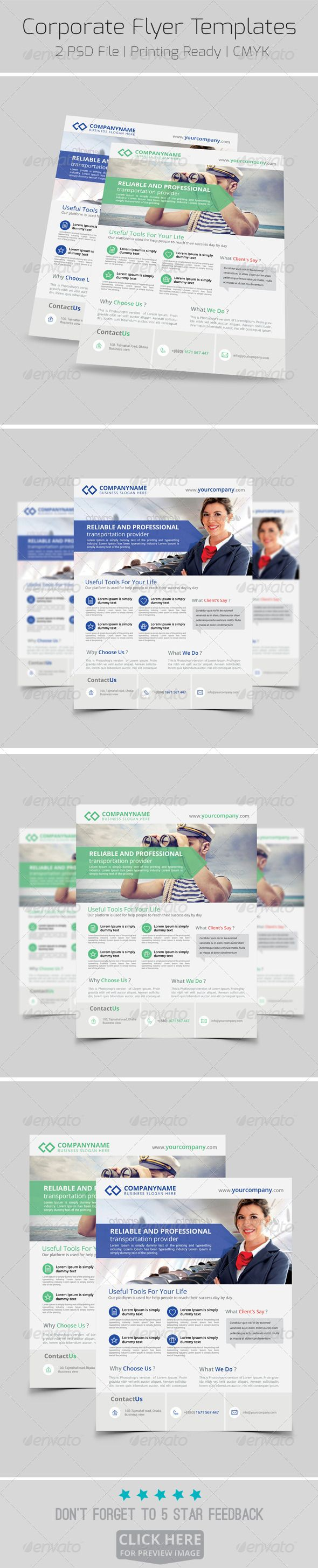 Modern Corporate Flyer Templates  Flyer Template Template And