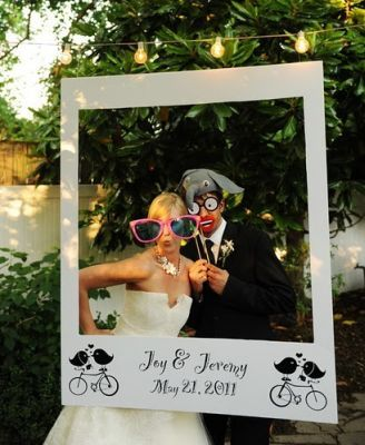 Wedding Photo Props Oversize Polaroid Frame Unique Ideas Forest Pinterest Weddings And