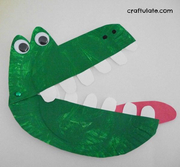 Paper Plate Alligator A Snappy Fun Craft Project For Kids