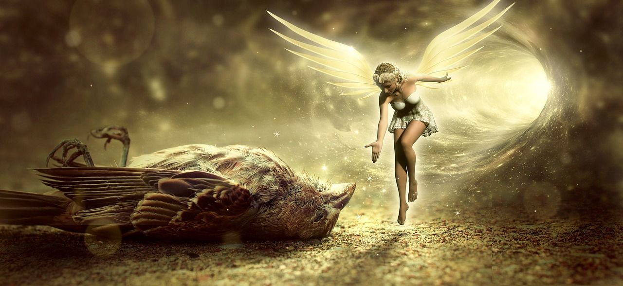 Imagen gratis en Pixabay Fantasía, Aves, La Muerte