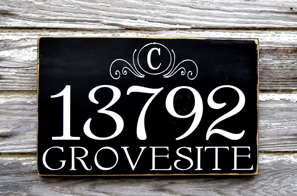 Address Plaques Outdoor House Numbers Sign Monogram