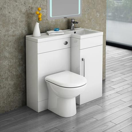 Valencia 900 Combination Basin Wc Unit With Round Toilet