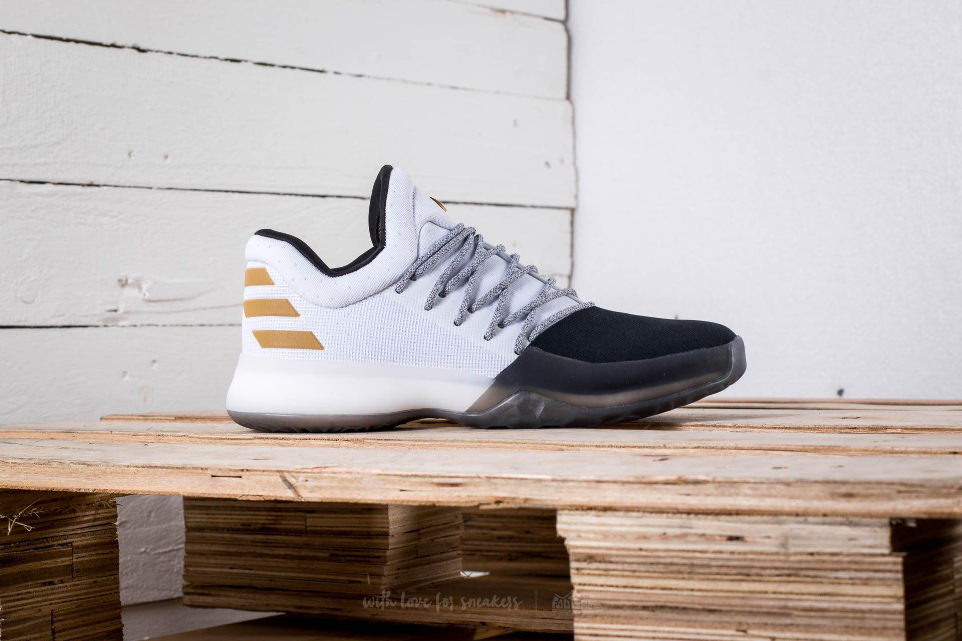 173660449700 adidas Harden Vol. 1 Footwear White  Core Black  Gold Metallic at a great