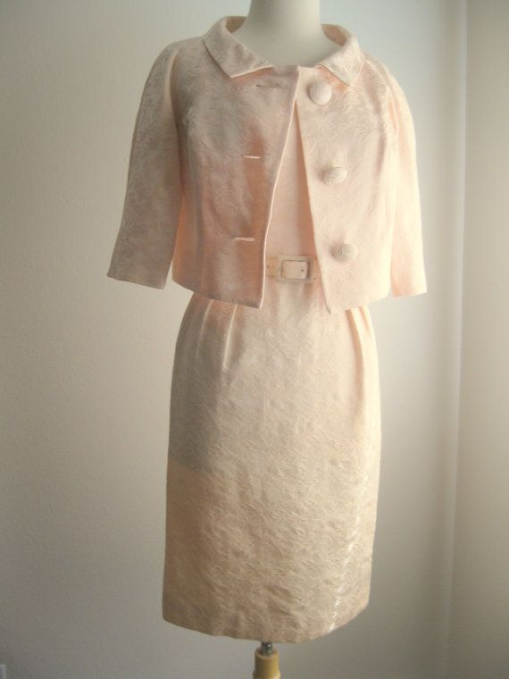 Vtg Jackie O Kennedy Style Dress Jacket