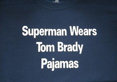 c0151d4a927bb4 Superman Wears Tom Brady Pajamas Mens T-Shirt ---- New England Patriots -  Boston
