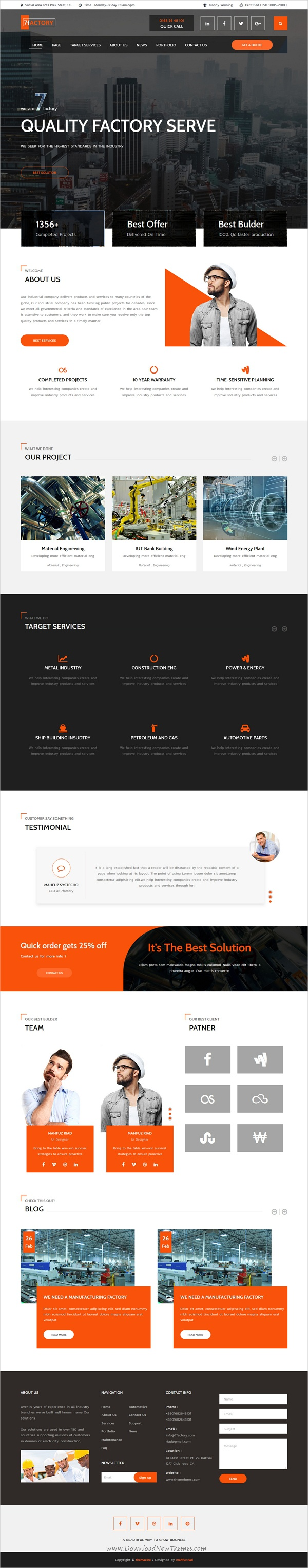 7factory Industrial Factory Manufacturing Html Template Web Layout Design Website Design Inspiration Wellness Design
