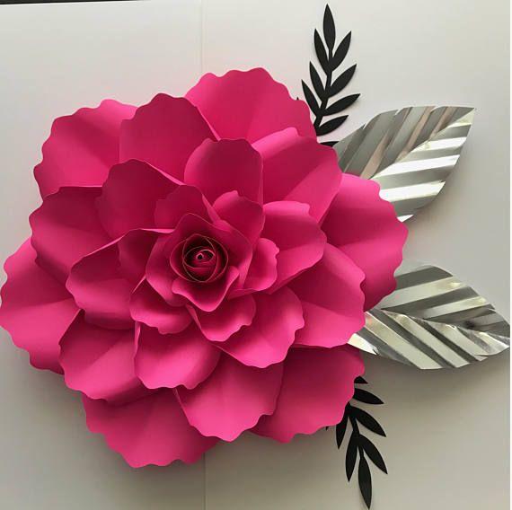 SVG Petal #99 with Clover Rose Center - Elegant Rose- Flower ...