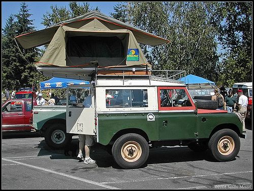 Roof-Top Tent Land Rover Series-II & Roof-Top Tent Land Rover Series-II | Outdoors | Pinterest | Roof ...