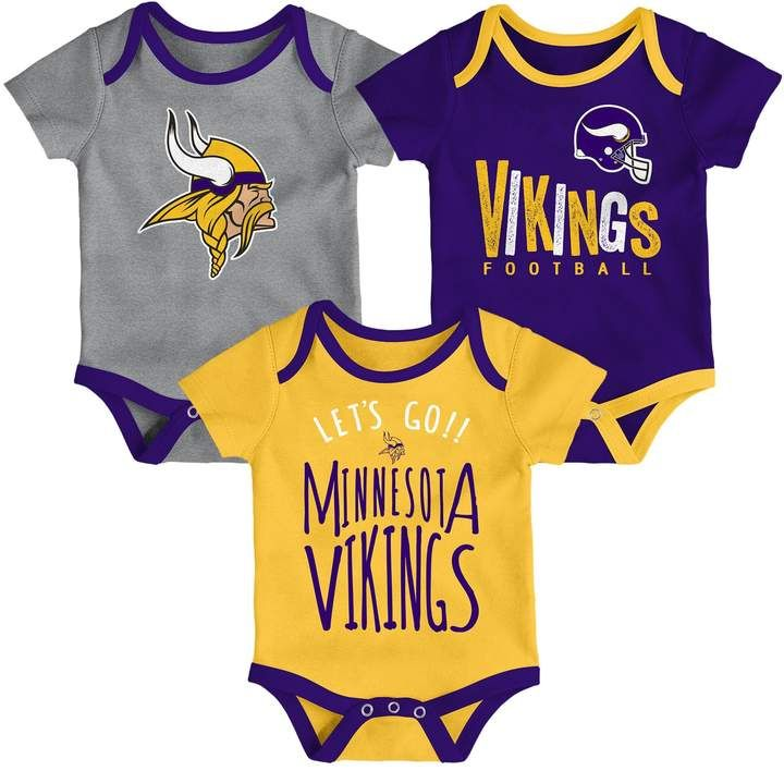 ac7be6e1 Baby Minnesota Vikings Little Tailgater Bodysuit Set | Products ...