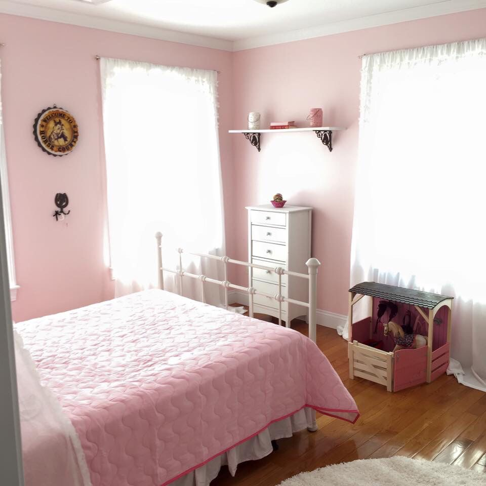 "Bedroom Colours Pink Master Bedroom Paint Ideas 2015 Anime Bedroom Eyes Bedroom Ideas Cream Carpet: ""Charming Pink"" By Sherwin Williams And A Few Horse"
