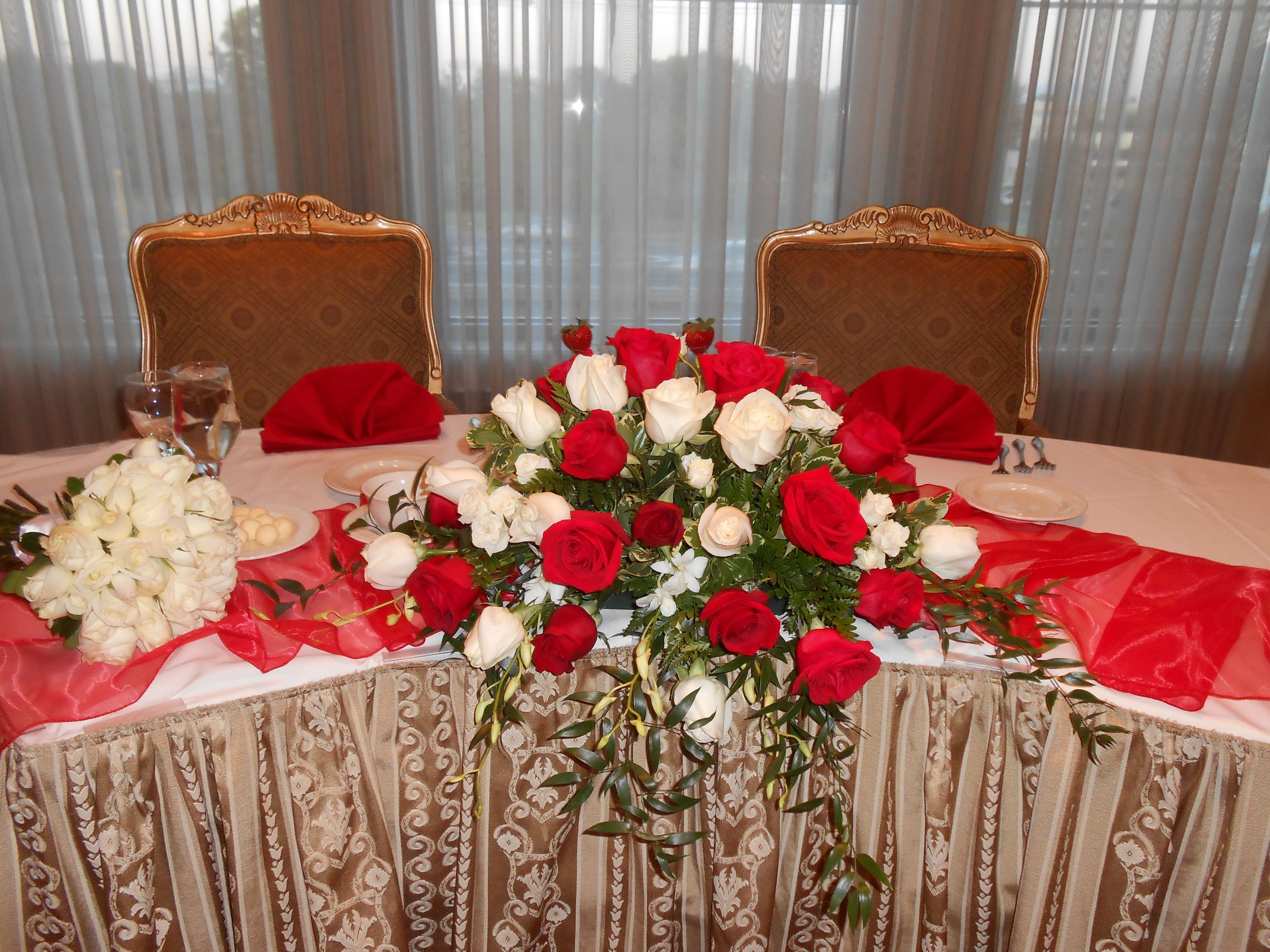 #Sweetheart Table For The #Bride And #Groom