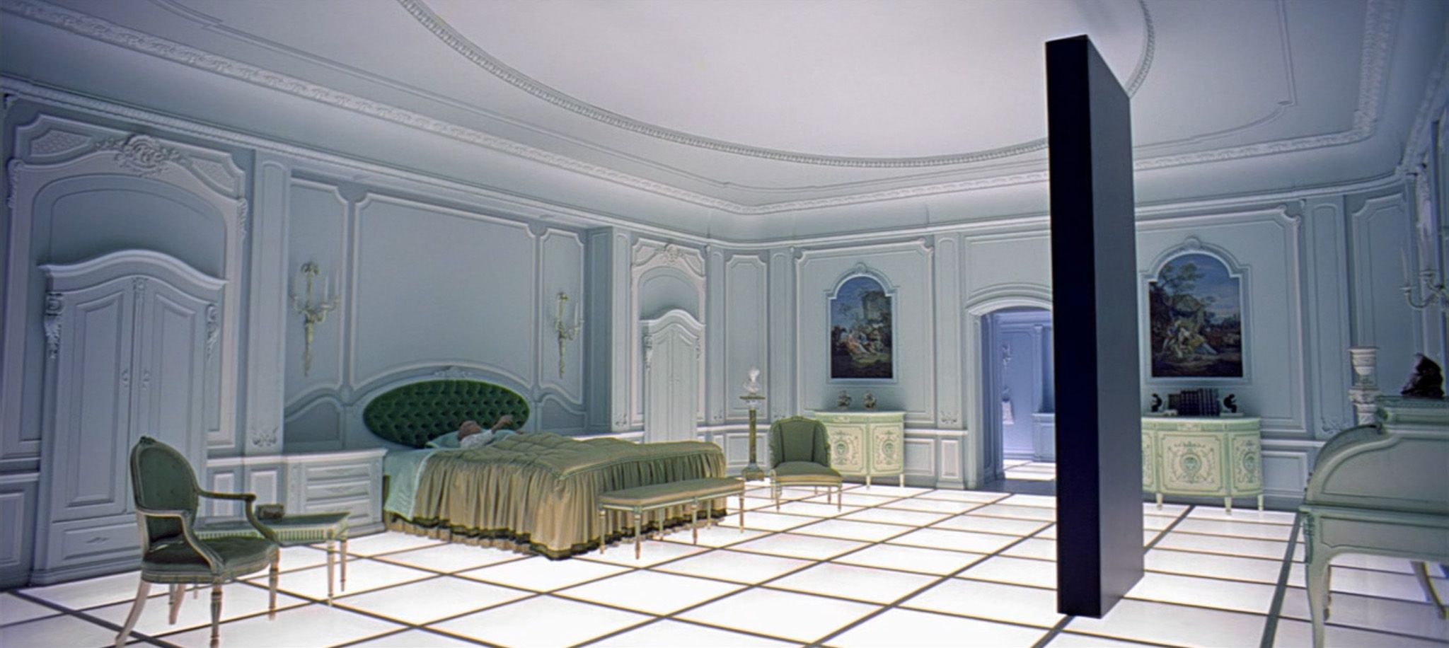 Image result for 2001 a space odyssey bedroom