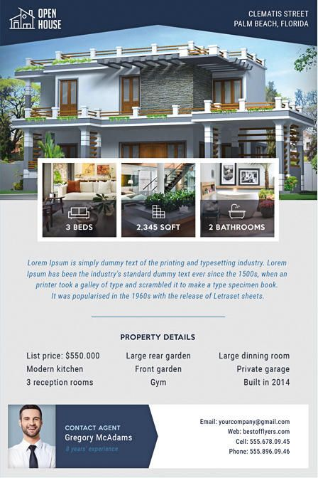 REAL ESTATE FREE PSD FLYER TEMPLATE - Stockpsd.net | Work ...