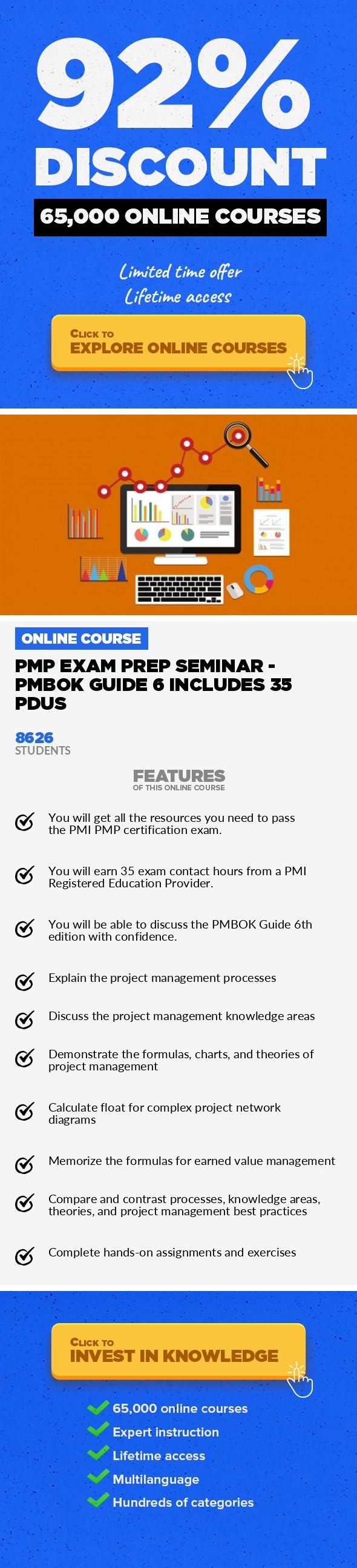 Pmp Exam Prep Seminar Pmbok Guide 6 Includes 35 Pdus Project