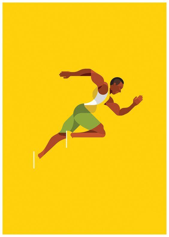 Athletes by Radio , via Behance: