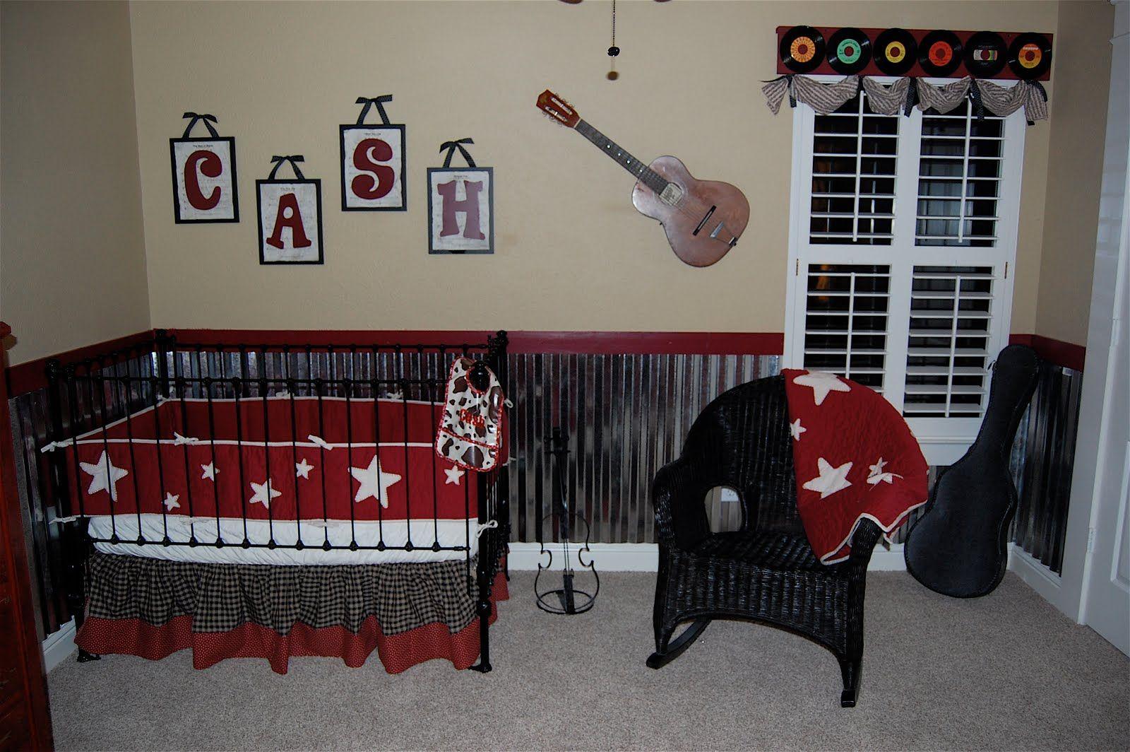 Vintage Music Theme Boys Baby Nursery