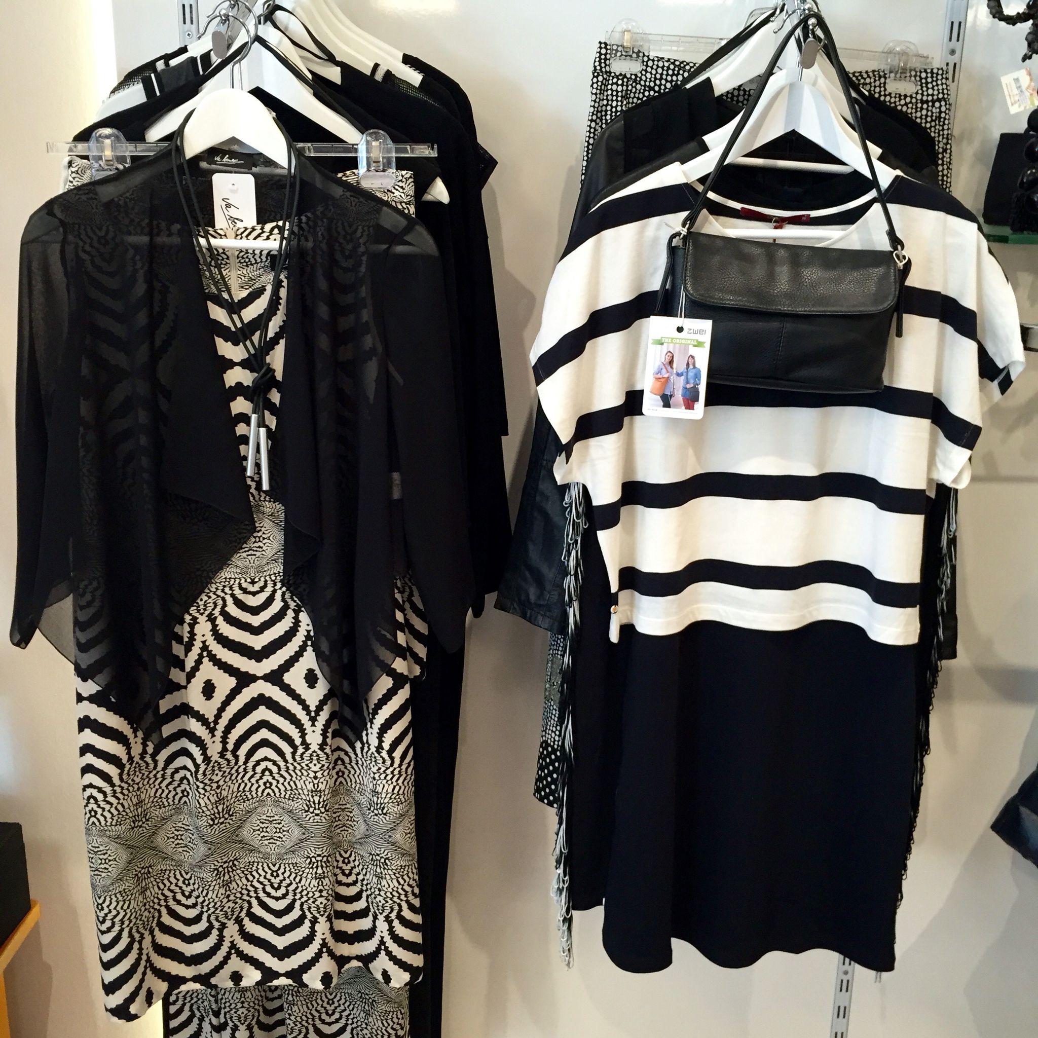 schwarz -weiß ist trend. mode von vabene und lanius köln