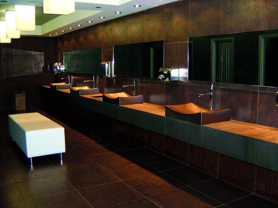 Salle De Bain Couleur Rouille Avec Iffel Carreau Moderne Cuisine ...