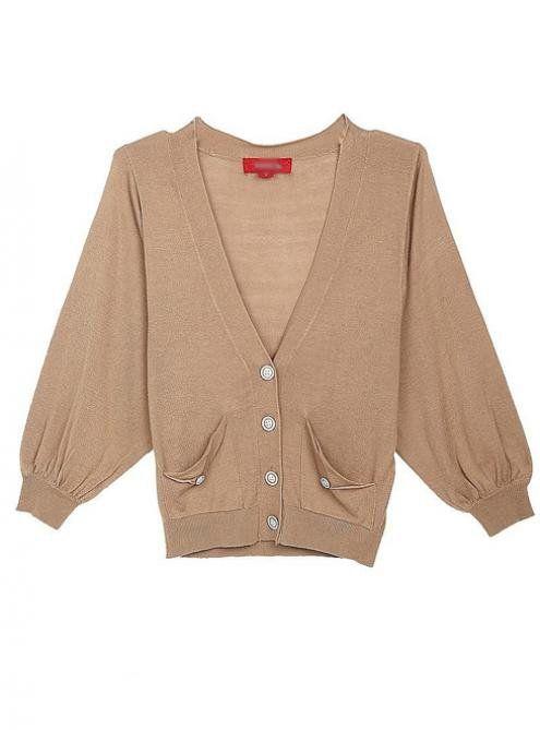 Three Quarter Length  Brown Sweater$44.00