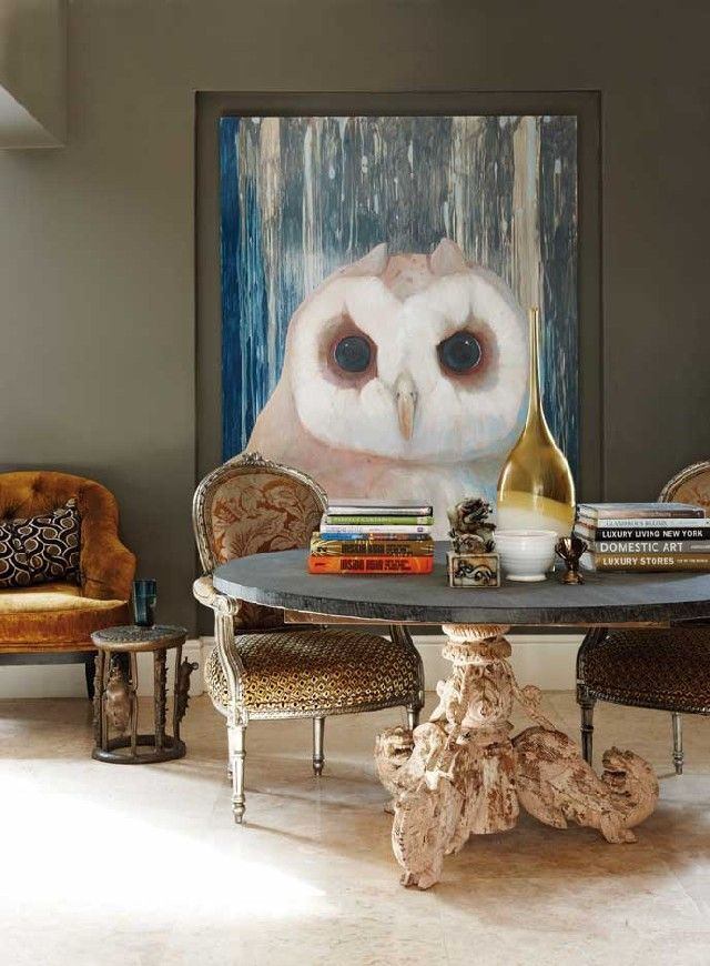 Wise Choices Owl Inspired Living Room Decoration Tips Home Design Ideas Painting Owl Painting Big Art