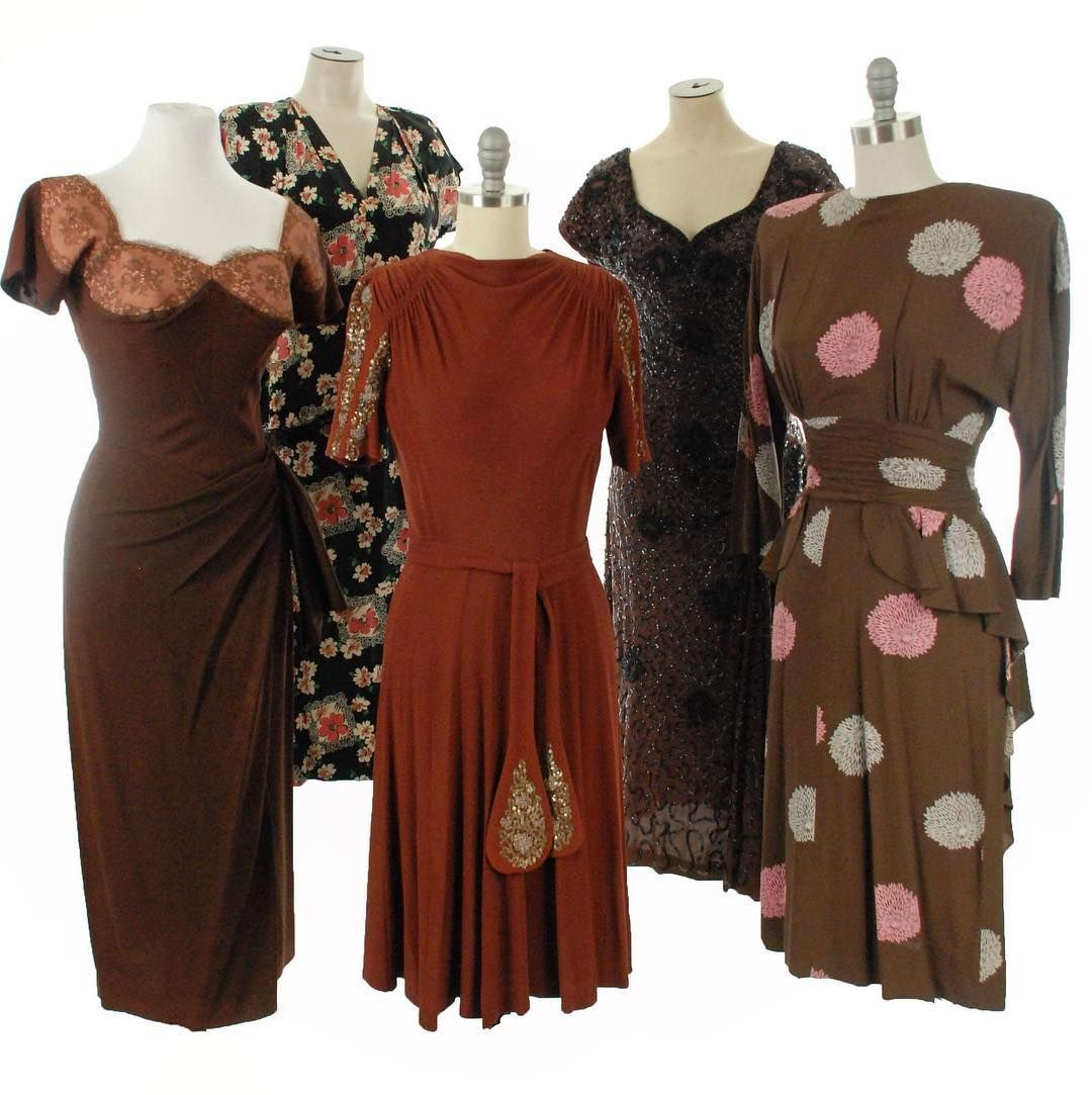 Coming Tomorrow These 40s Beauties And A Few More Besides Don T Let Anyone Tell You Brown Is Boring 1 Dorothy Cocktail Dress Vintage Dresses 1940s Dresses [ 1083 x 1080 Pixel ]
