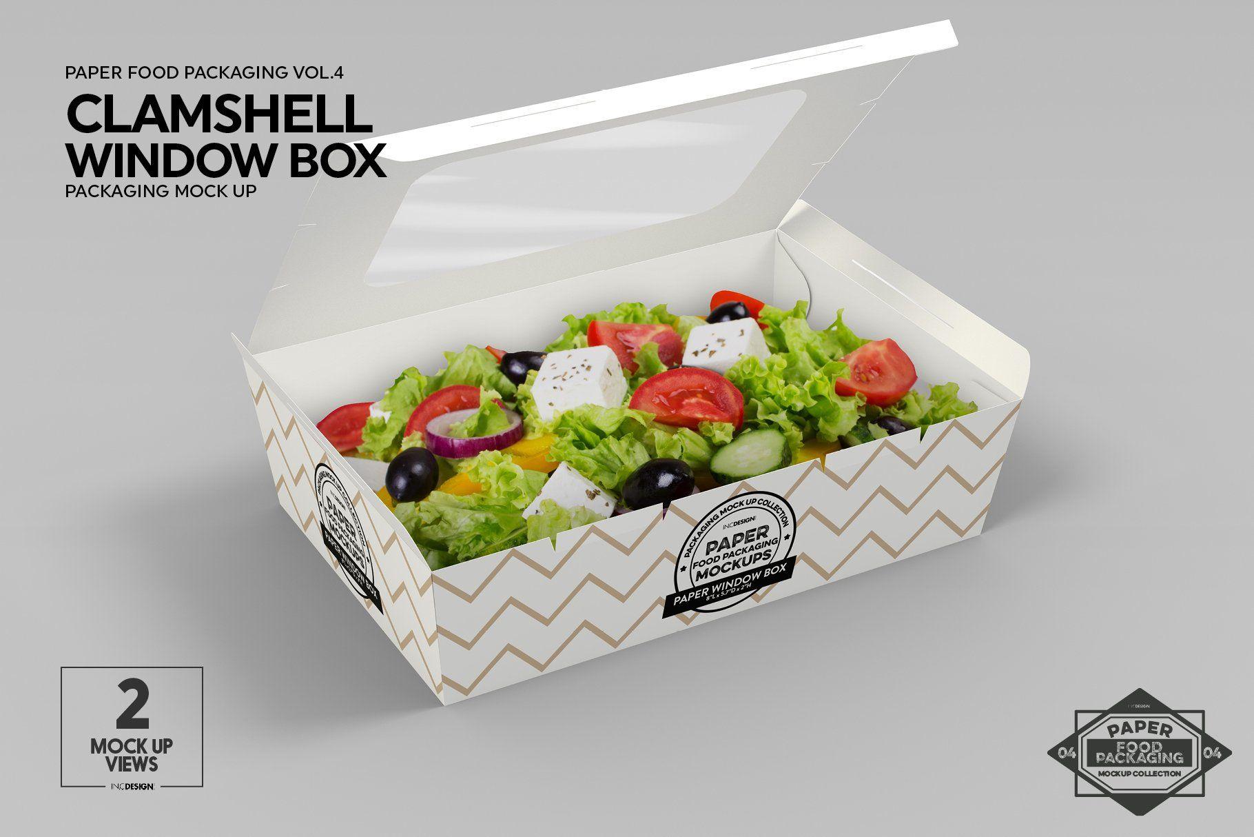 Download Clamshell Window Box Mockup Box Mockup Free Packaging Mockup Packaging Mockup
