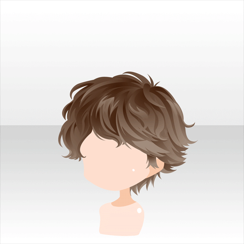 anime hair boy short curly brown