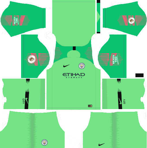 37293e3a7 Manchester City Goalkeeper Away Kits 2018-19 - Dream League Soccer Kits