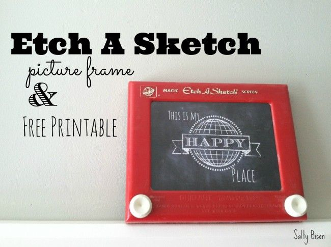 Etch A Sketch Picture Frame & Printable | Free printable, Sketches ...