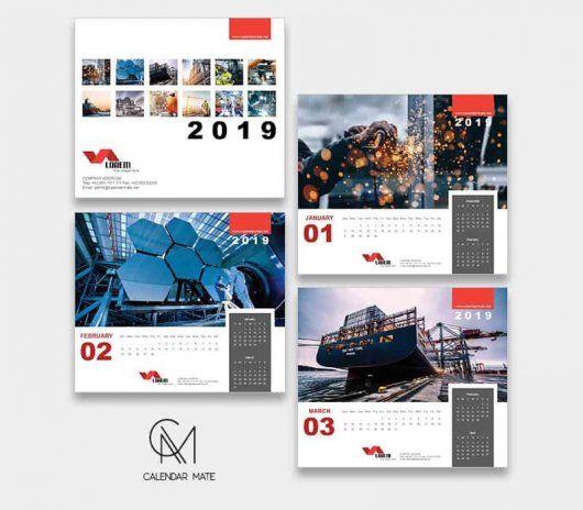 Marka Premium Desk Calendar Design Template 2019 Calendars