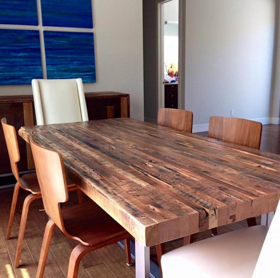 Custom Millwork Reclaimed Wood Reclaimed Wood Dining Table