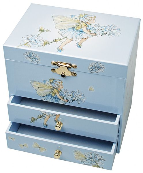 Cornflower Flower Fairies Musical Jewellery Box Trousselier www