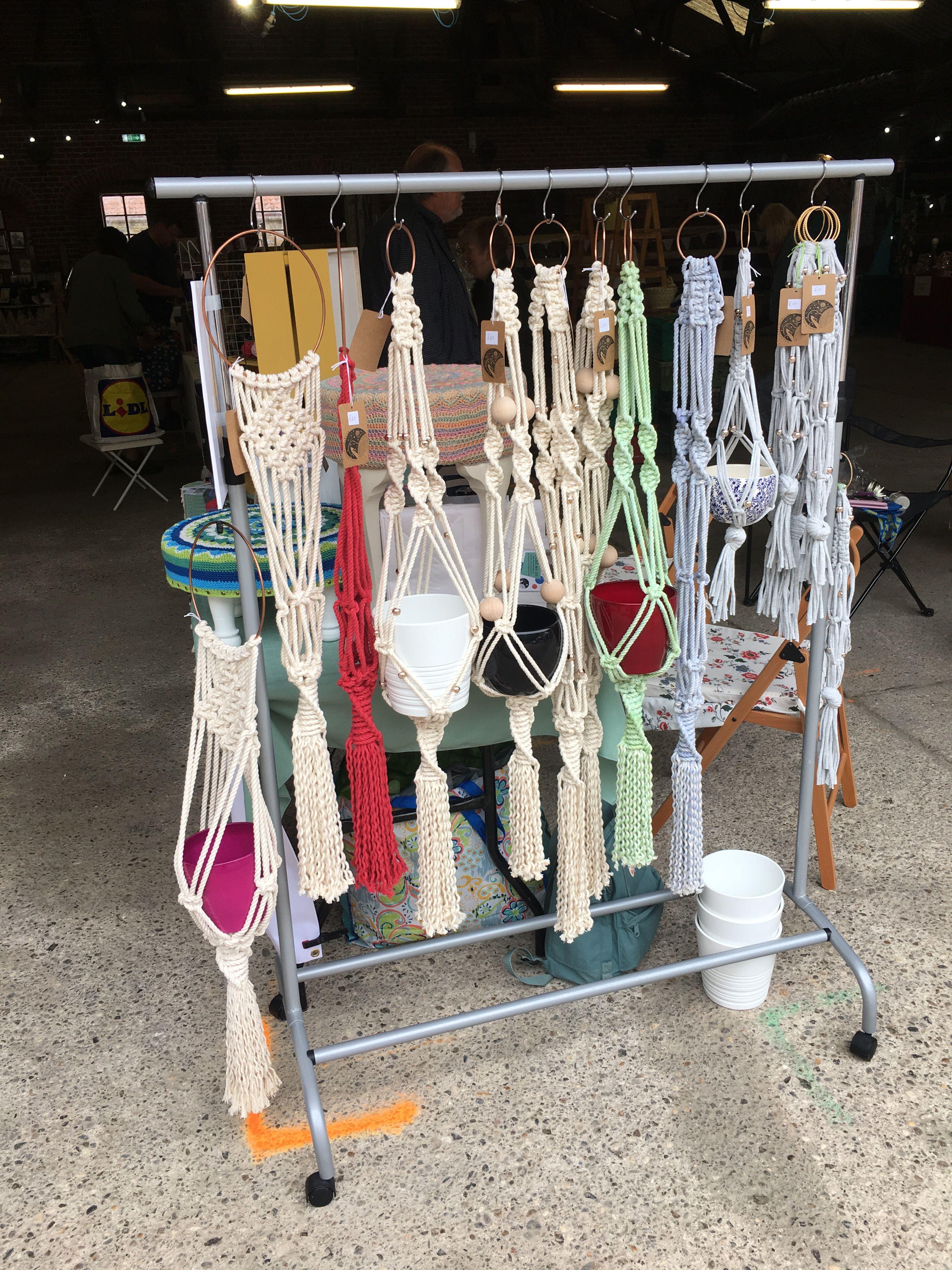 2fd941abf821 Sledmere Artisan Food and Craft Fair Macrame Hanging Baskets | tapiz ...