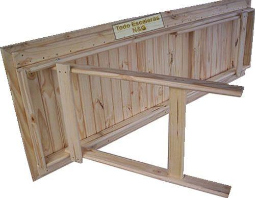 Mesa madera tablon jardin patas plegables quincho 2 x 70 - Mesa plegable diseno ...