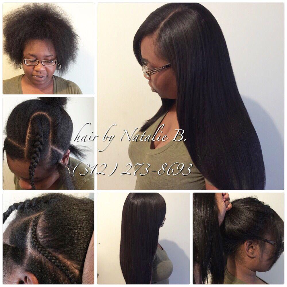 Before After Perfect Pony Sew In Hair Weaves By Natalie B 312 273 8693 Ig Iamhairbynatalieb Facebook Hair Weave Hairstyles Hair Long Hair Styles