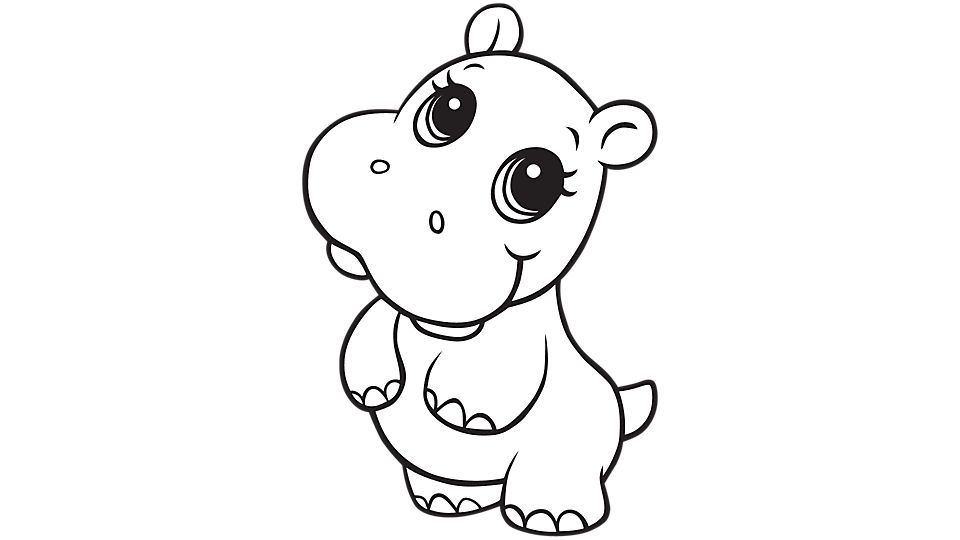 Learning Friends Hippo coloring printable | Tattoos | Pinterest ...