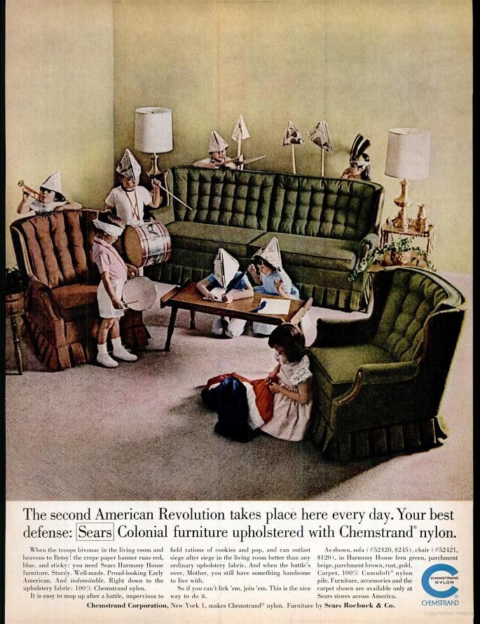 Sears Harmony House Furniture 1962 Colonial Furniture Print