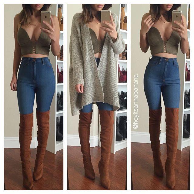 WEBSTA @ heyitsannabanana - Jeans and top from @fashionnova @fashionnova   www.fashionnova.com ❤️ 15% off code XOANNA #fashionnova